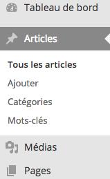 Accéder aux articles WordPress