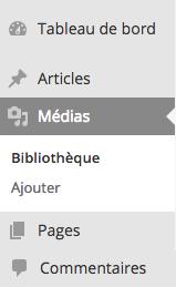Comment accéder aux médias WordPress