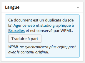 "l'option ""traduire à part"" de WPML"