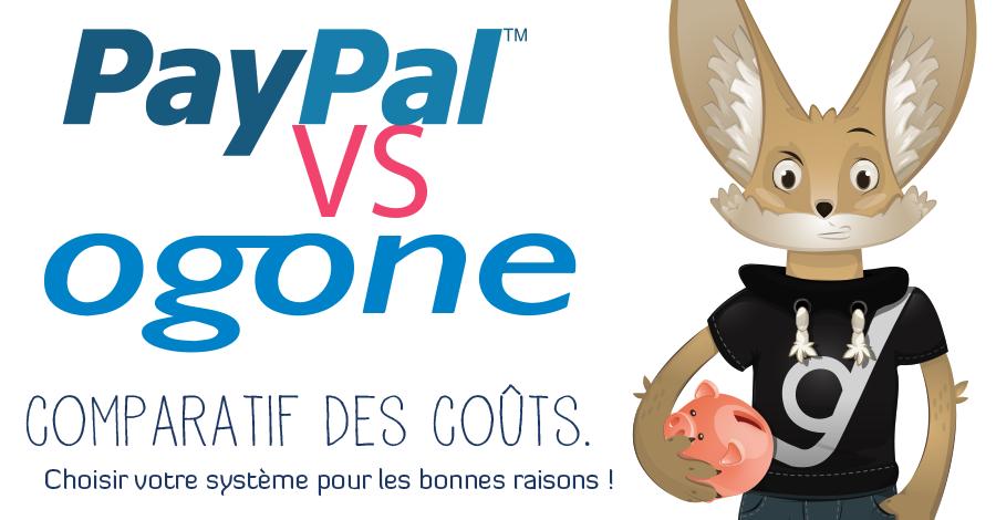 PayPal Vs Ogone : comparatif des coûts (infographie)