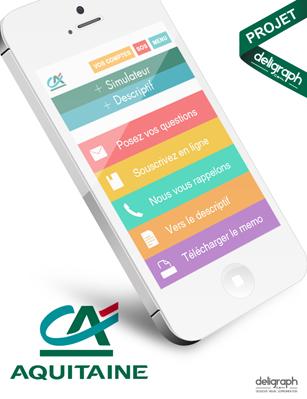 Site responsive du Crédit Agricole Aquitaine créé par Deligraph : Agence web à Bruxelles