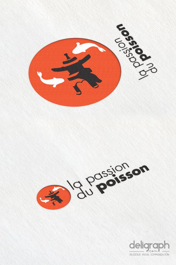 Déclinaison logo de La passion du poisson créé par Deligraph : Studio graphique à Bruxelles