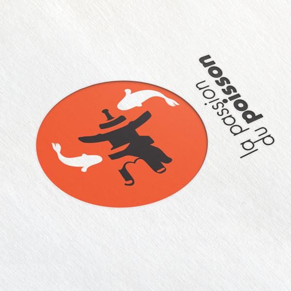 Logo de La passion du poisson créé par Deligraph : Studio graphique à Bruxelles