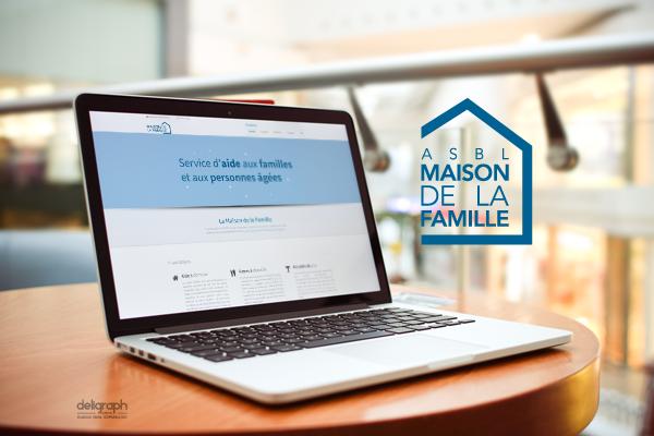 Site responsive de Maison de la famille créé par Deligraph : Agence web à Bruxelles