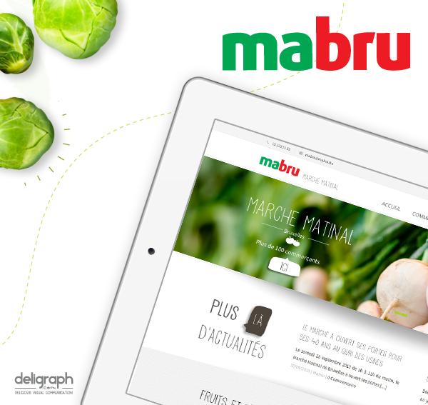 Site responsive de Mabru créé par Deligraph : agence web à Bruxelles