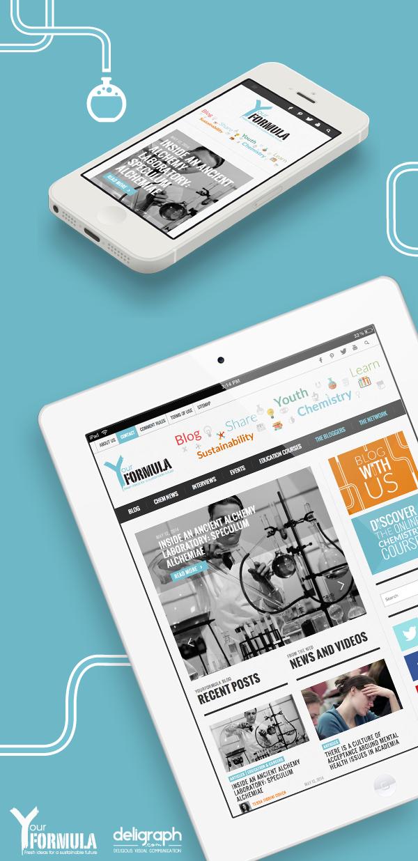 Site responsive de Your Formula créé par Deligraph : Agence web à Bruxelles