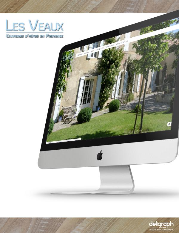 Site web des Veaux créé par Deligraph : Agence web à Bruxelles