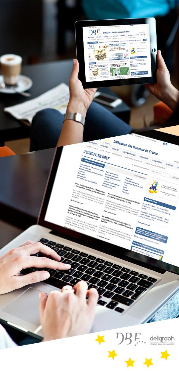 Site web responsive de DBF créé par Deligraph : Agence web à Bruxelles