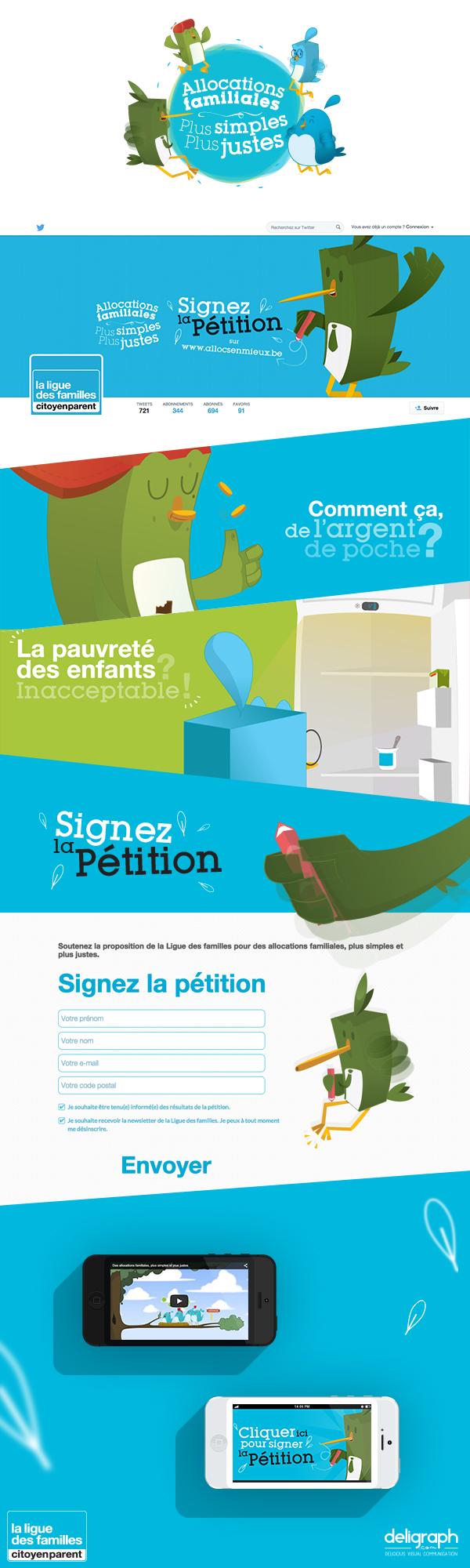 Création d'une campagne de sensibilisation : Illustration, Webdesign et Community management