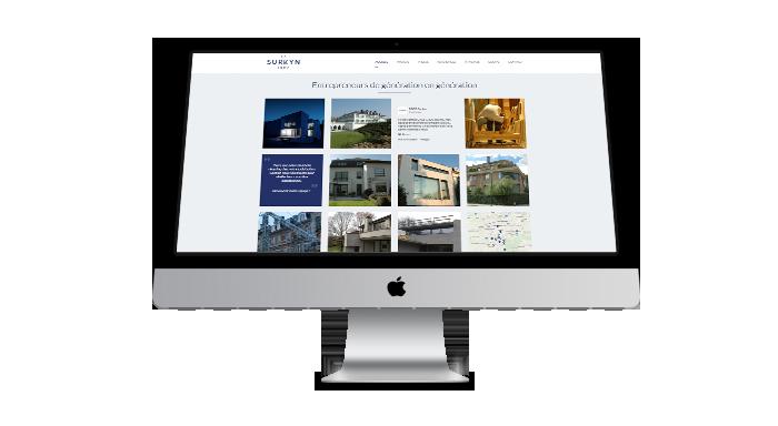 Agence web : création site vitrine portfolio iMac