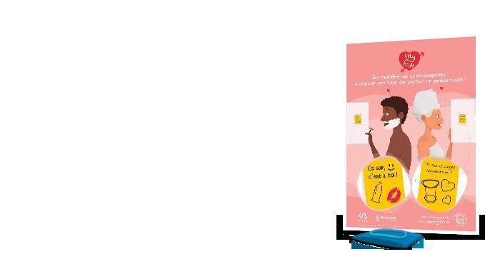 Studio graphique : illustration et création graphique d'affiches - Illu préservatif féminin