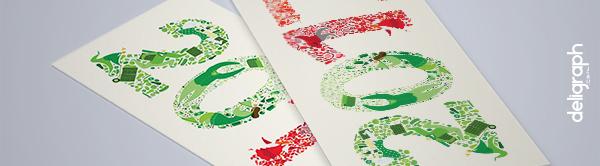Studio Graphique : Illustration et mise en page d'une carte de voeux