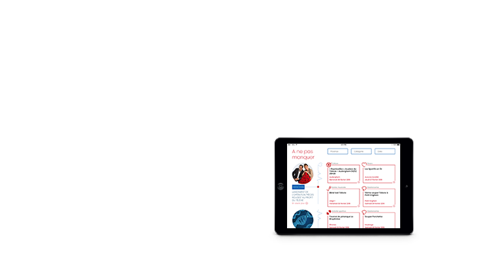 Création du site web Télévie, vue sur iPad