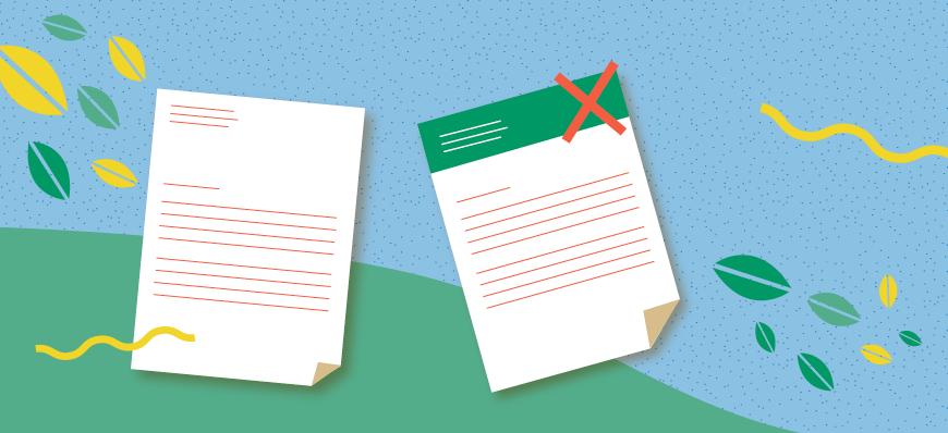 Evitez trop d'aplats d'encre sur votre papier à en-tête