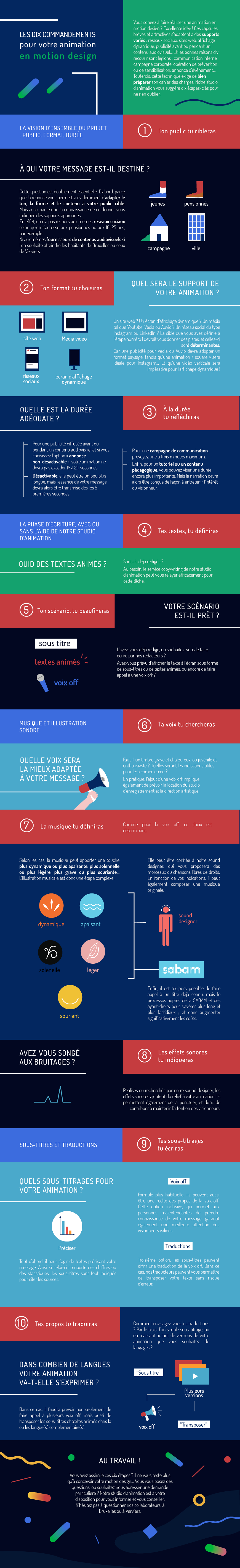 Motion Design : charte - infographie