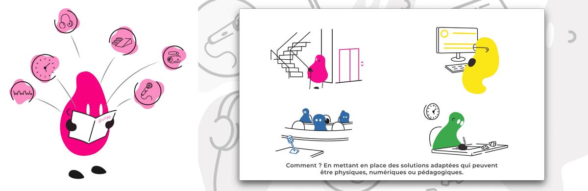 Animation pour le département d'une université - agence de communication visuelle