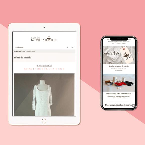 Création site e-commerce responsive de robes de mariage - agence web