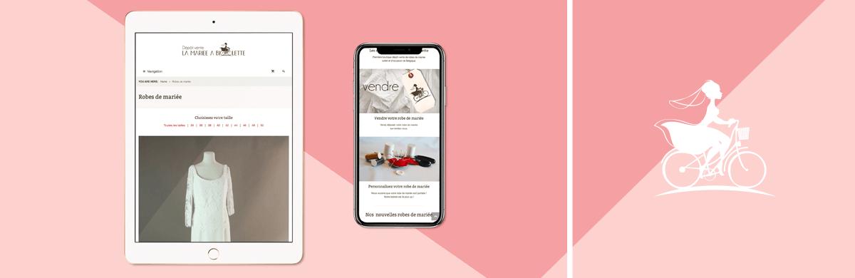 Création site e-commerce de robes de mariage - agence web
