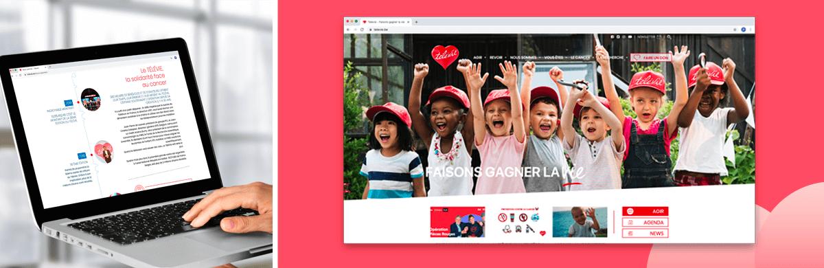 Création site internet caritatif - agence web