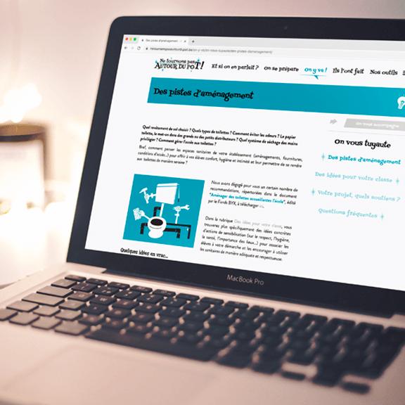 Création site internet d'un projet santé et hygiène - agence web responsive