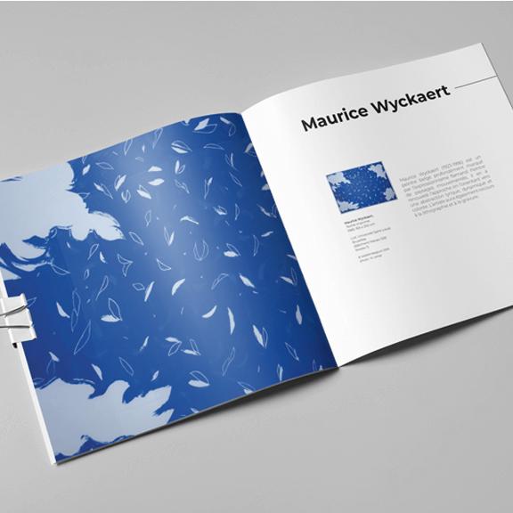 Mise en page d'un catalogue de collection d'art d'une université - agence de communication visuelle