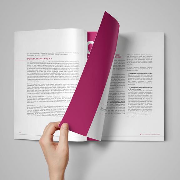 Mise en page recueil conférences pédagogie - studio graphique