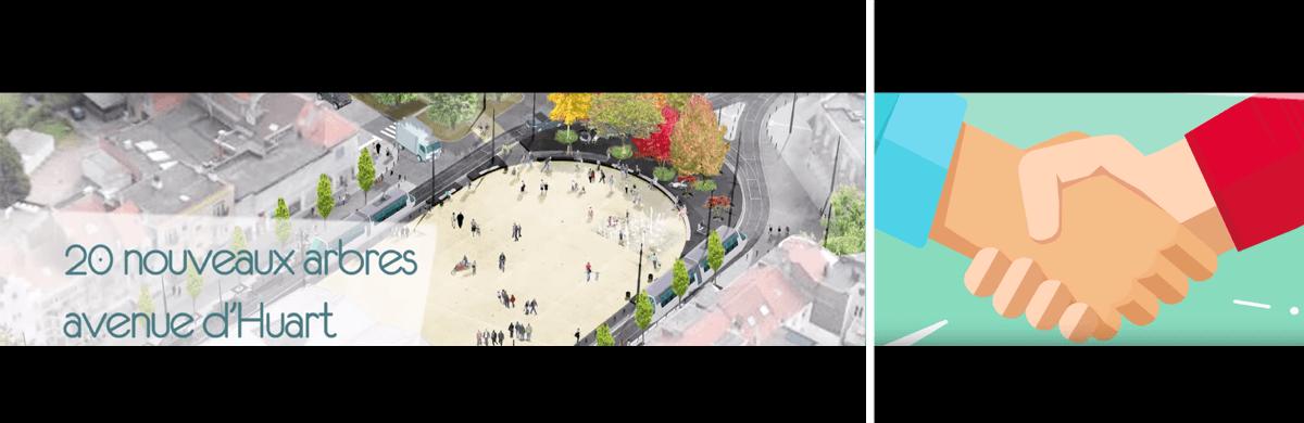 Montage d'une vidéo d'information par rapport à des travaux dans une commune - production audiovisuelle