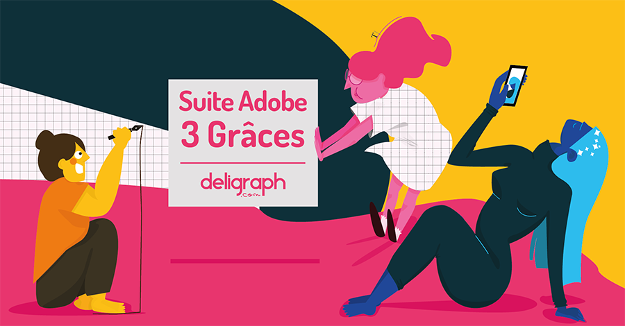 Suite Adobe - 3 Grâces : Photoshop, Indesign, Illustrator