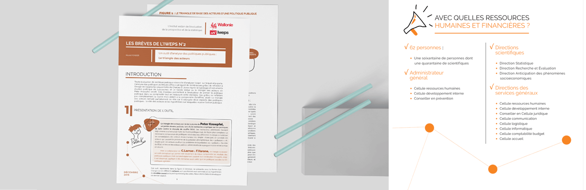 Data visualisation dans une publication d'un institut de statistiques wallon - studio graphique