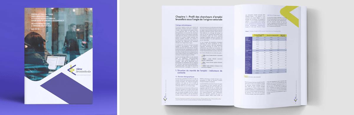 Mise en page et data visualisation d'un rapport - studio graphique