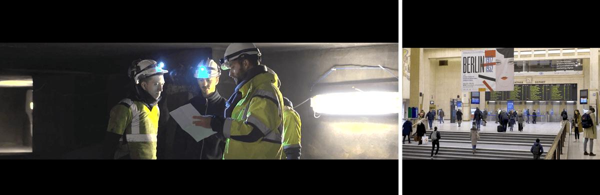 Production audiovisuelle : tournage et montage des phases d'un chantier public sur la jonction Nord-Midi de Bruxelles