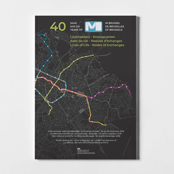 Mise en page et data visualisation - 40 ans du métro bruxellois - studio graphique