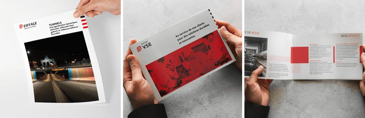 Mise en page de brochure dans le secteur de la construction et de l'infrastructure - studio graphique