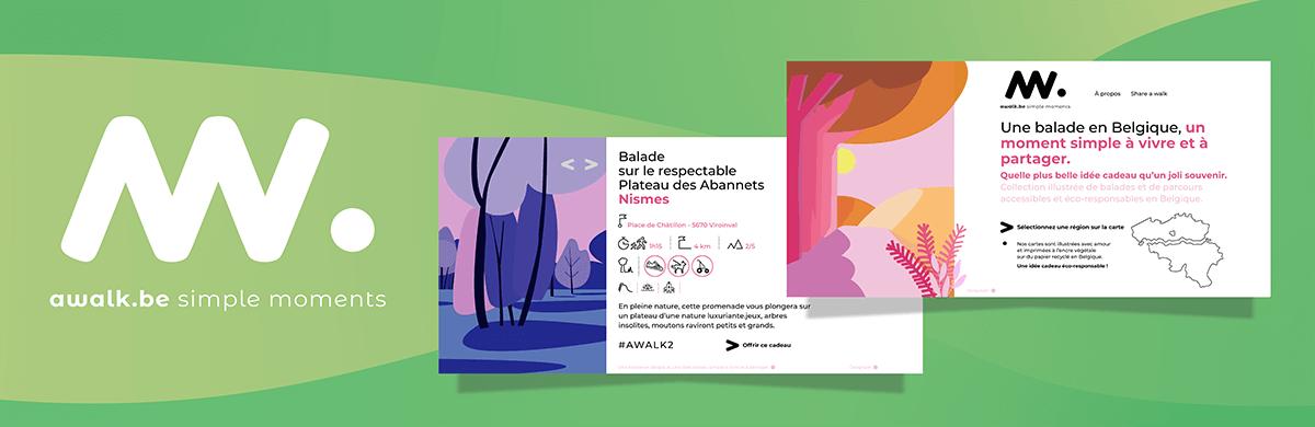 Éco-conception par notre agence web d'un site internet de balades en Belgique