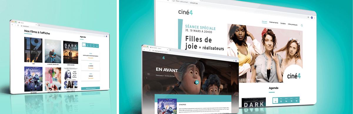 Création du site web du cinema d'un centre culturel - agence web Bruxelles et Liège